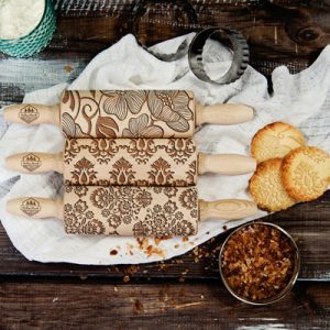 Set of 3 Laser cut Rolling pins by RollingWoods