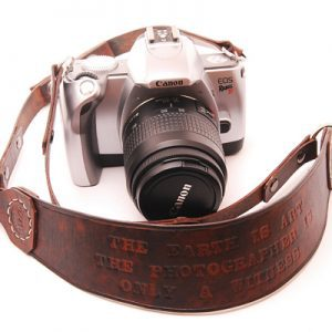 Personalised Leather Camera Strap by EchoSix