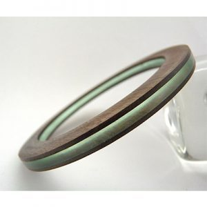 Seaglass acrylic solid wood bangle by OMGoshShop