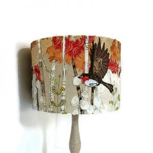 OOAK Three Robins in flight Lampshade by LilCritterDesigns